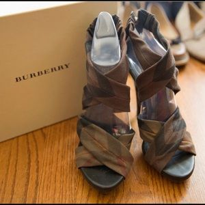 Burberry Strappy High Heeled Sandals